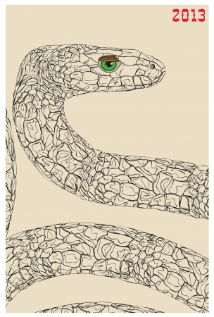 wise snake Stock Vector - 17098959