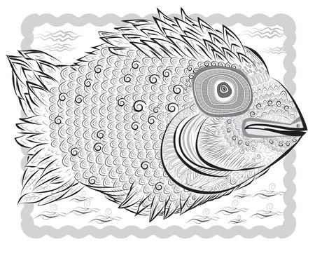 gray fish Stock Vector - 18082505