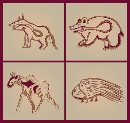 style: Indian animals
