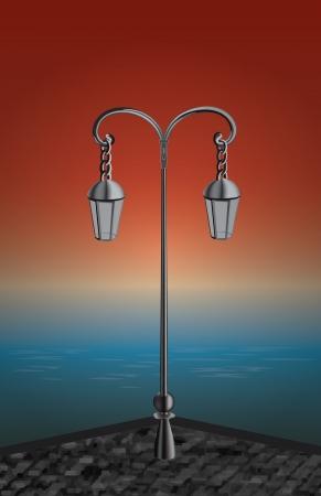 gusseisen: Licht in der Nacht Illustration
