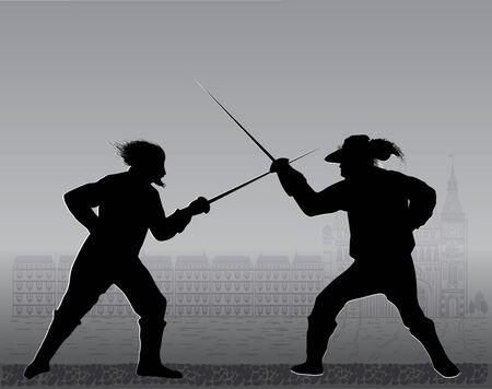 duel: duel Illustration