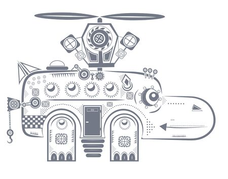 behemoth: small mechanical behemoth with a propeller Illustration