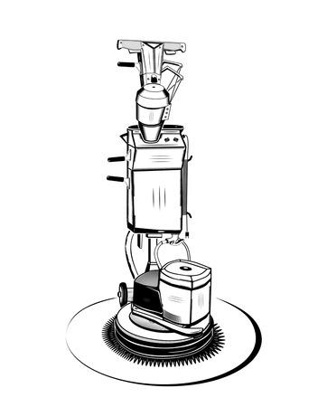 old vacuum cleaner Illustration