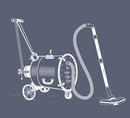 vacuum: an old vacuum cleaner balloon on wheels