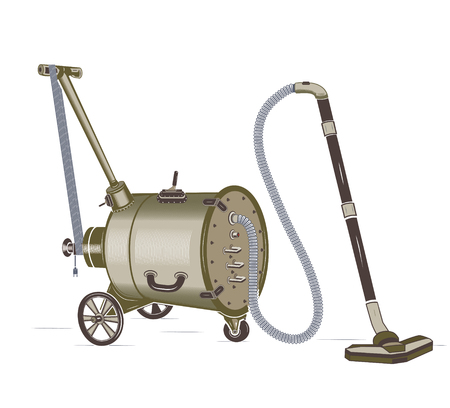rivets: barrel vacuum cleaner Illustration