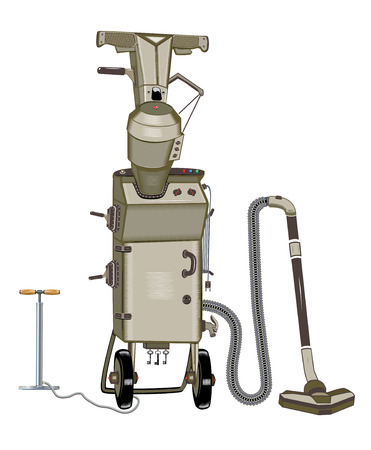 Vacuum suitcases on wheels with pump