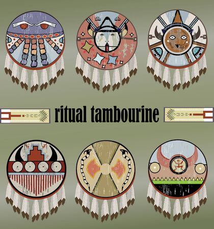 ritual tambourines of the Indians of North America and the Great Plains