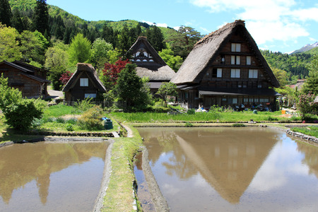 shirakawa go: Shirakawa-Go, the famous village listed as UNESCO World Heritage Site  Gifu prefecture, JAPAN Editorial