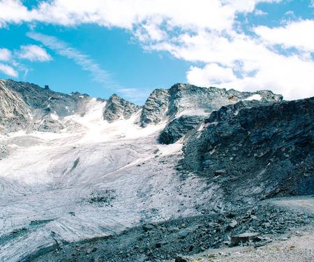 Glacier ice landscape in Alps of Switzerland, Europe Stock Photo