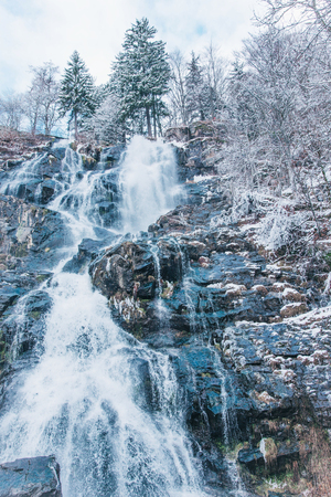 Todtnauer waterfalls at wintertime.