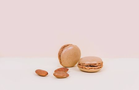 French macaroon cake macaroons with almonds.