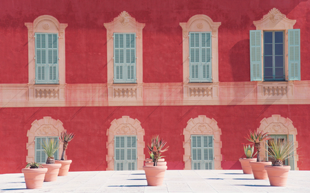 NICE, FRANCE - march, 2018: Facade of the Matisse museum.