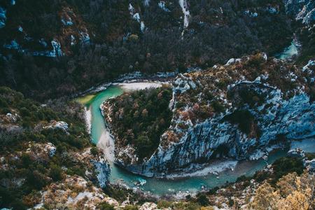Beautiful landscape of Gorges du Verdon in south France.