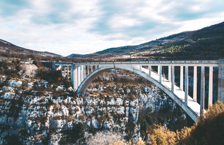 Amazing bridge de Chauliere in Gorges du Verdon, France.
