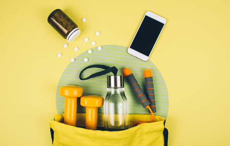 Fitness abstract healthy lifestyle concept. Stock Photo