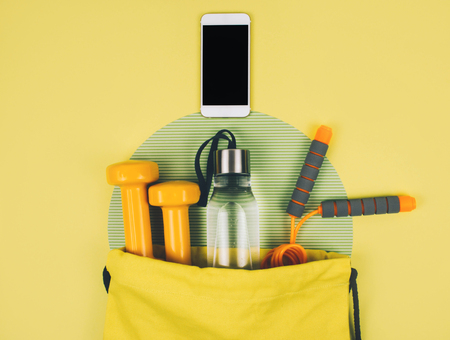 Creative flat lay of sport and fitness equipments Kho ảnh