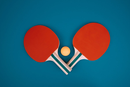 Table tennis closeup photo