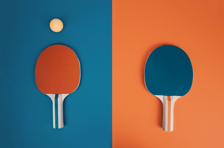Table tennis or ping pong rackets.