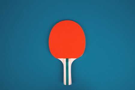 Table tennis or ping pong rackets and ballse. Stock Photo