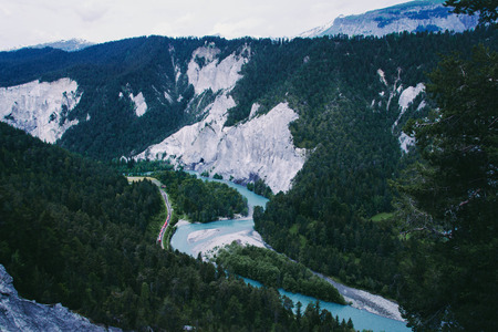 Ruinaulta is a canyon created by the Anterior Rhine in Switzerland.