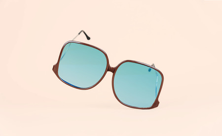 Retro sunglasses on minimal bright background. Summer concept. Kho ảnh