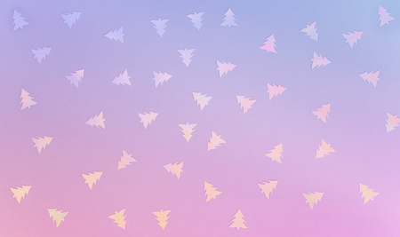 Colorful celebration background with party confetti on pastel blue background. Flat lay.