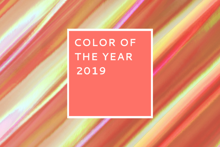 Multicolored background imitating hologram as trendy backdrop. Color of the year 2019.