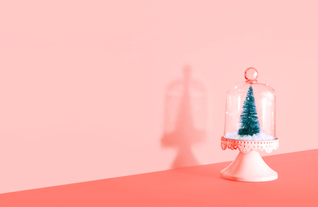 Creative Christmas design with Christmas tree. Xmas and holiday concept. Color of the year 2019.