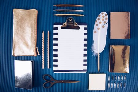 Part of a series detailing school supplies. Overhead shoot.