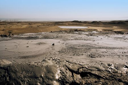 Mud volcanoes of Gobustan close to Baku, Azerbaijan. Zdjęcie Seryjne