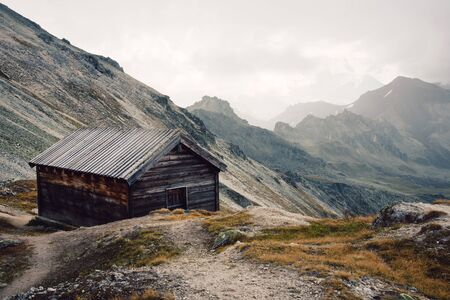 View of beautiful moody landscape in the Alps. Switzerland, Bella Tola.