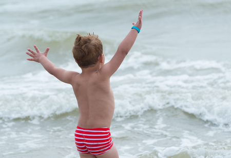 swimshorts: king of the world symbol of freedom on the beach