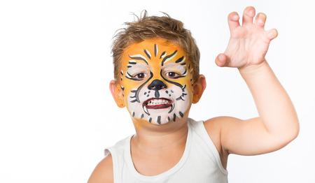 animalitos tiernos: la celebración de traje facepainting cumpleaños y carnaval