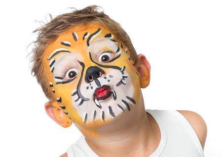 la celebración de traje facepainting cumpleaños y carnaval
