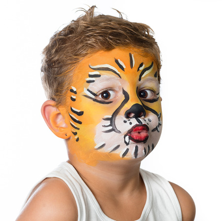 celebrating birthday facepainting costume and carnaval Stock Photo - 62504758