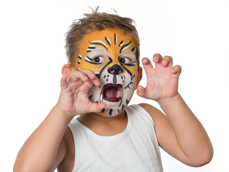 celebrating birthday facepainting costume and carnaval