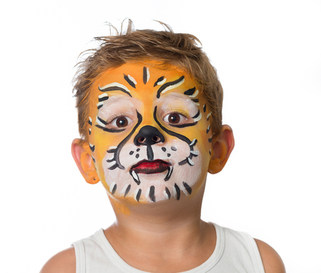 celebrating birthday facepainting costume and carnaval Stock Photo - 62504760