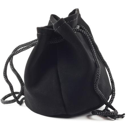 Black purse on a white background