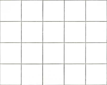 Seamless tileable white square wall tiles Stock Photo