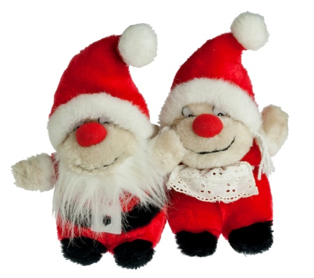 Santa Claus and his wife as dolls photo