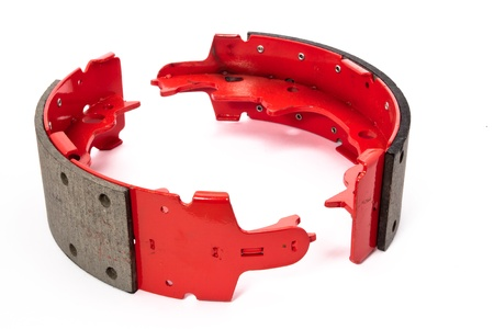 auto spare parts - red drum brake shoes photo
