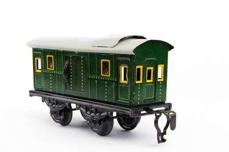 old green toy train wagon photo