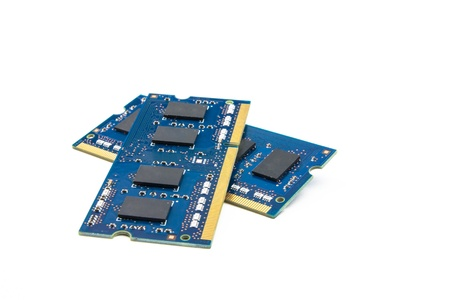 Two RAM modules on top of each other