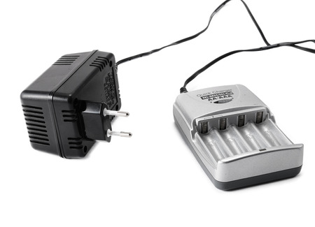 volt: Battery charger with 230 volt adapter Stock Photo