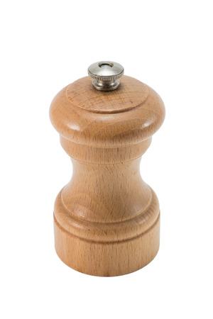 pepper grinder: small wooden pepper grinder standing