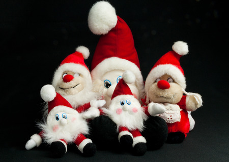 elfs: Christmas toy elfs in different sizes with red hats