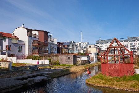 Apartment buildings in West Harbour area in Mamö in Sweden