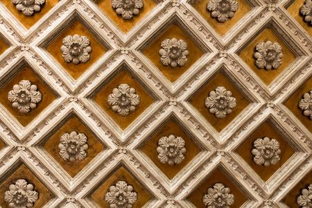 Antique wooden ornamentet ceiling