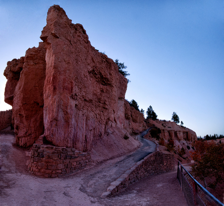 large rock: Large rock formations at Bryce Canyon National Park Stock Photo
