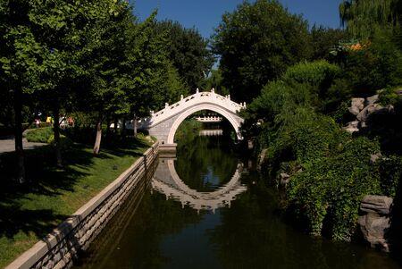 Bridge in a park in Beijing, China